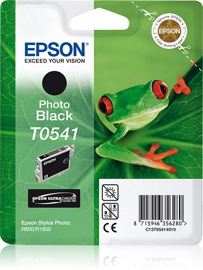 Epst054140     Epson T0541 Photo Black Ink    Stylus Photo R800 R1800                                      - UF01