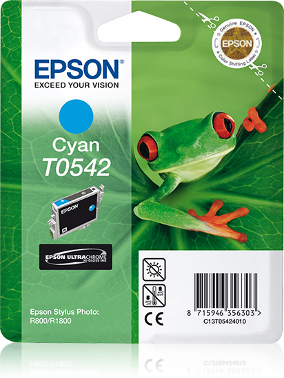 Epst054240     Epson T0542 Cyan Ink           Stylus Photo R800 R1800                                      - UF01