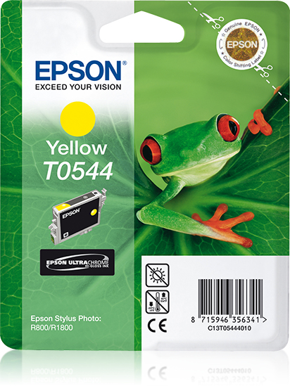 Epst054440     Epson T0544 Yellow Ink         Stylus Photo R800 R1800                                      - UF01
