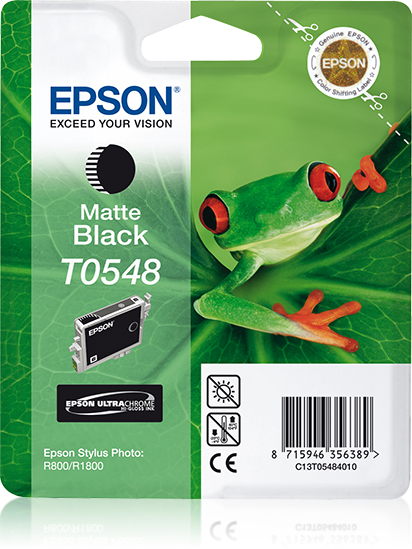 Epst054840     Epson T0548 Matte Black Ink    T0548 Stylus Photo R800 R1800                                - UF01