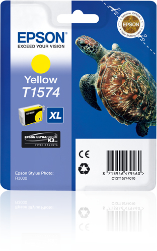 Epst15744010   Epson R3000 Yellow             Ultrachrome K3 Vm Ink 25.9ml                                 - UF01