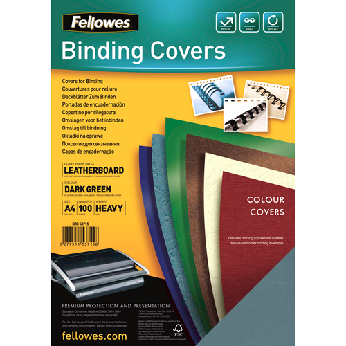 fellowes Leatherboard Covers Gr A4 Pk100 5371503 - AD01