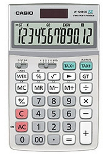casio Casio Jf-120eco 12-digit Desktop Calculator Jf-120eco-w-eh - AD01
