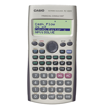 casio Casio Fc-100v 12-digit Financial Calculator Fc-100v-s-uh - AD01