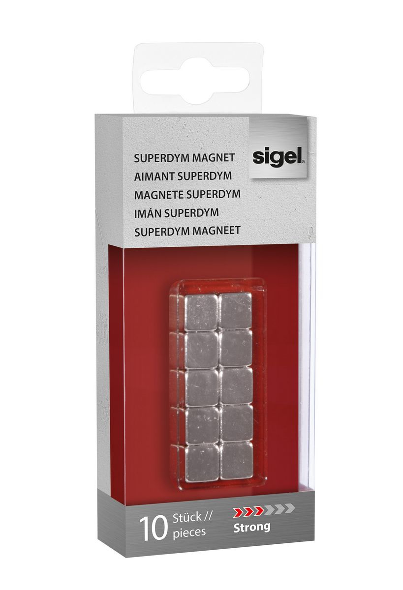 sigel Sigel Magnets Superdym C5 Strong Cube 10x10x10mm Silver Pk10 Gl193 - AD01