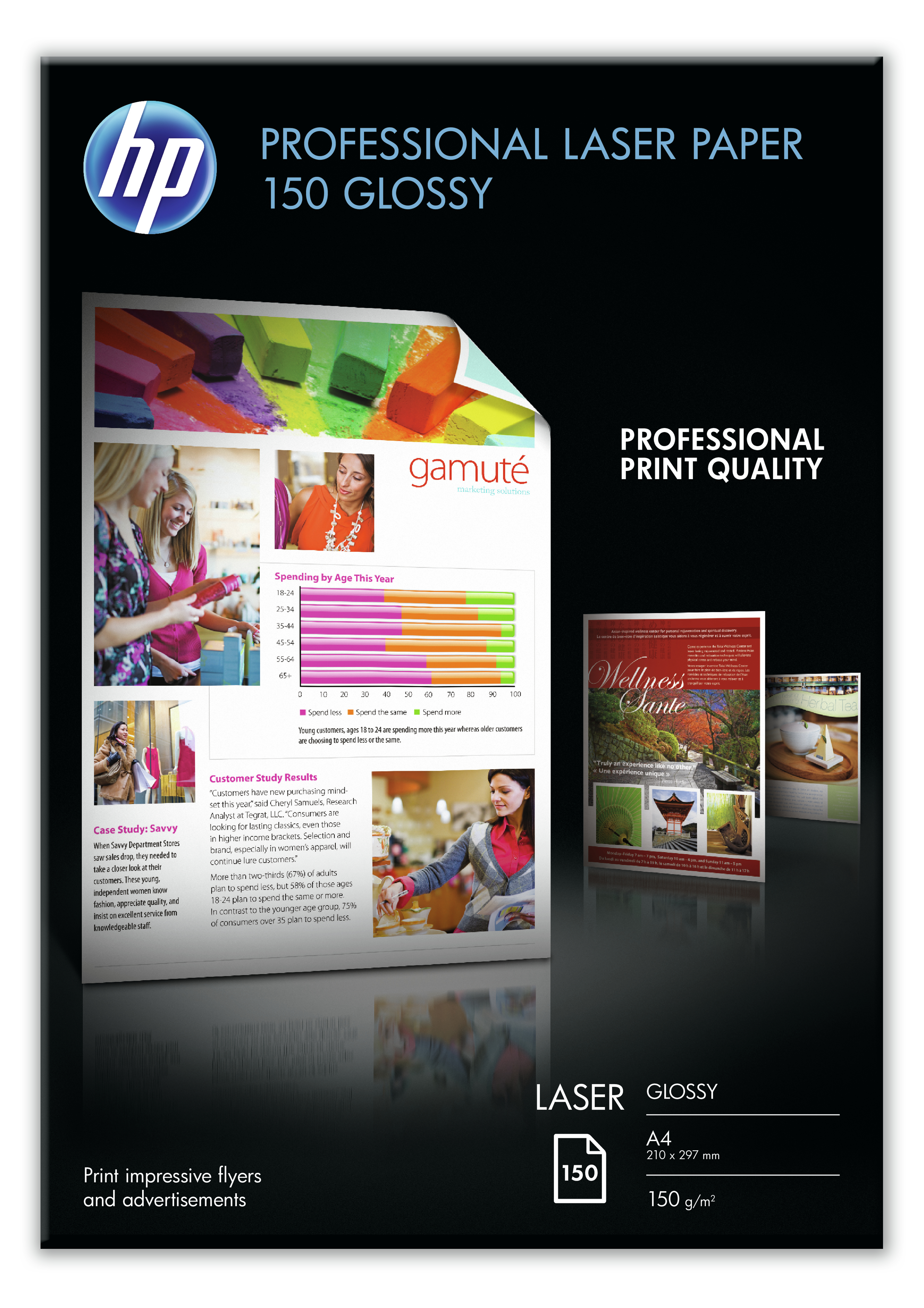 Hpcg965a       Hp Pro Glossy Laser Paper      150gsm                                                       - UF01