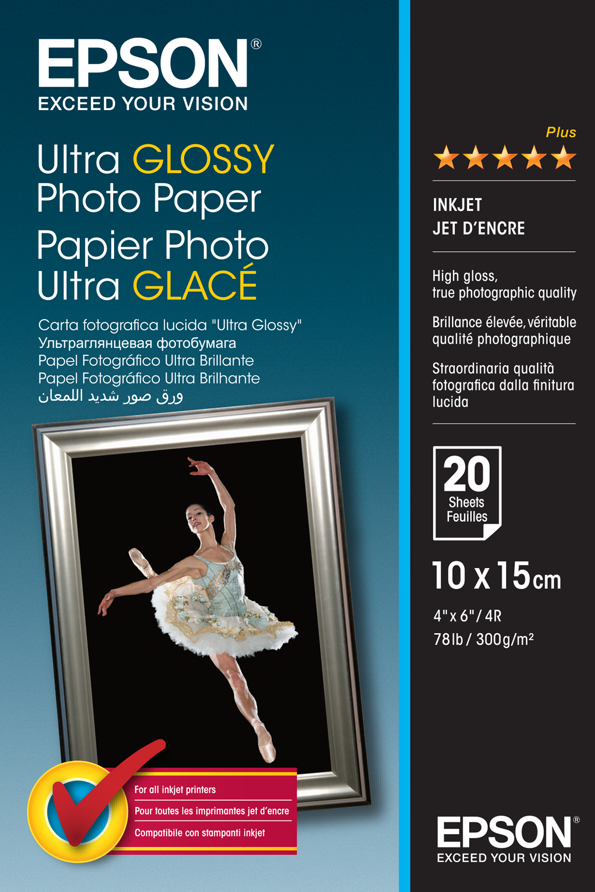 Ultra Glossy Photo Paper 10x15cm 20s C13s041926 - WC01