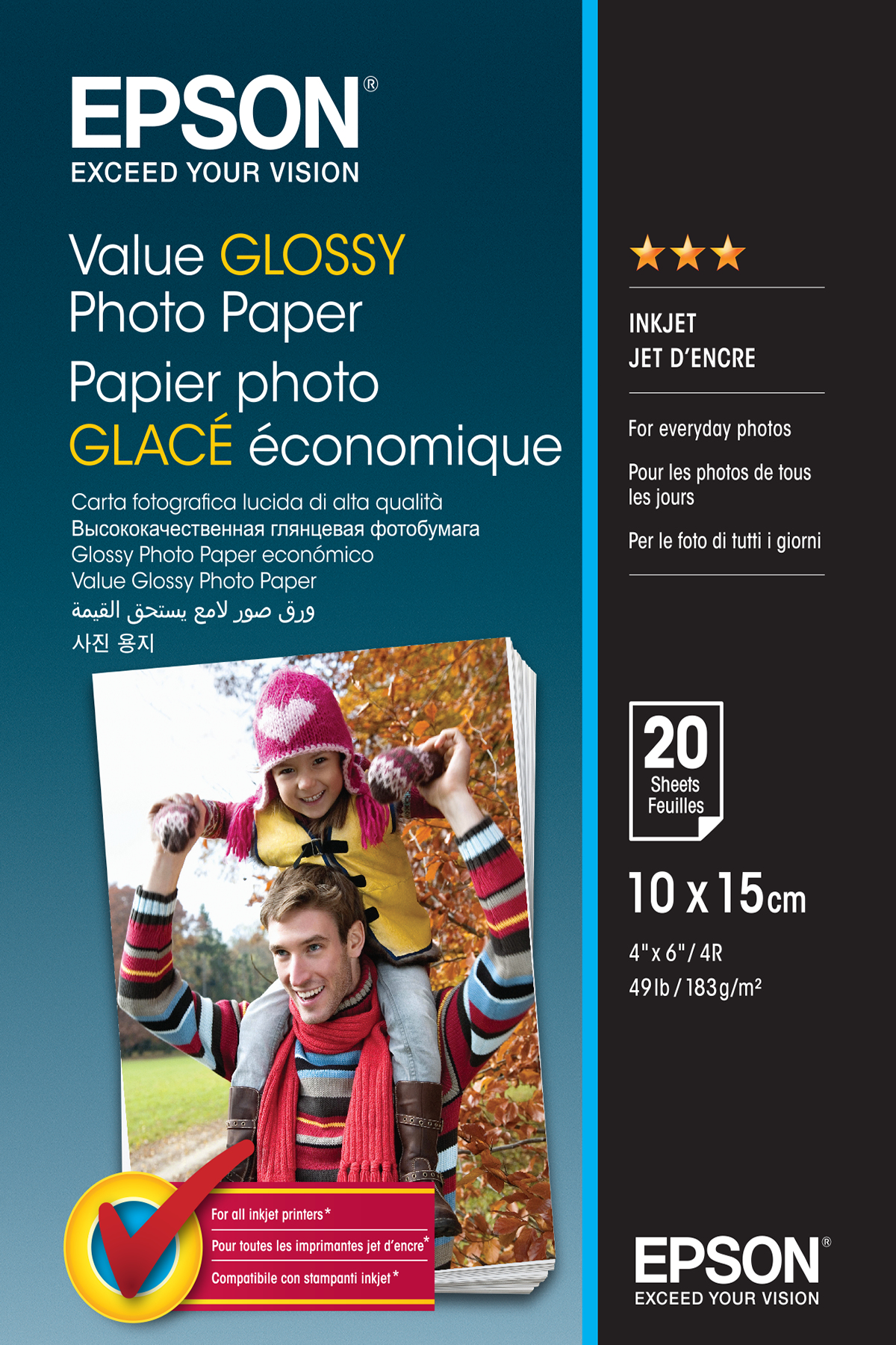Glossy Photo Paper 10x15cm 20 Sheet C13s400037 - WC01