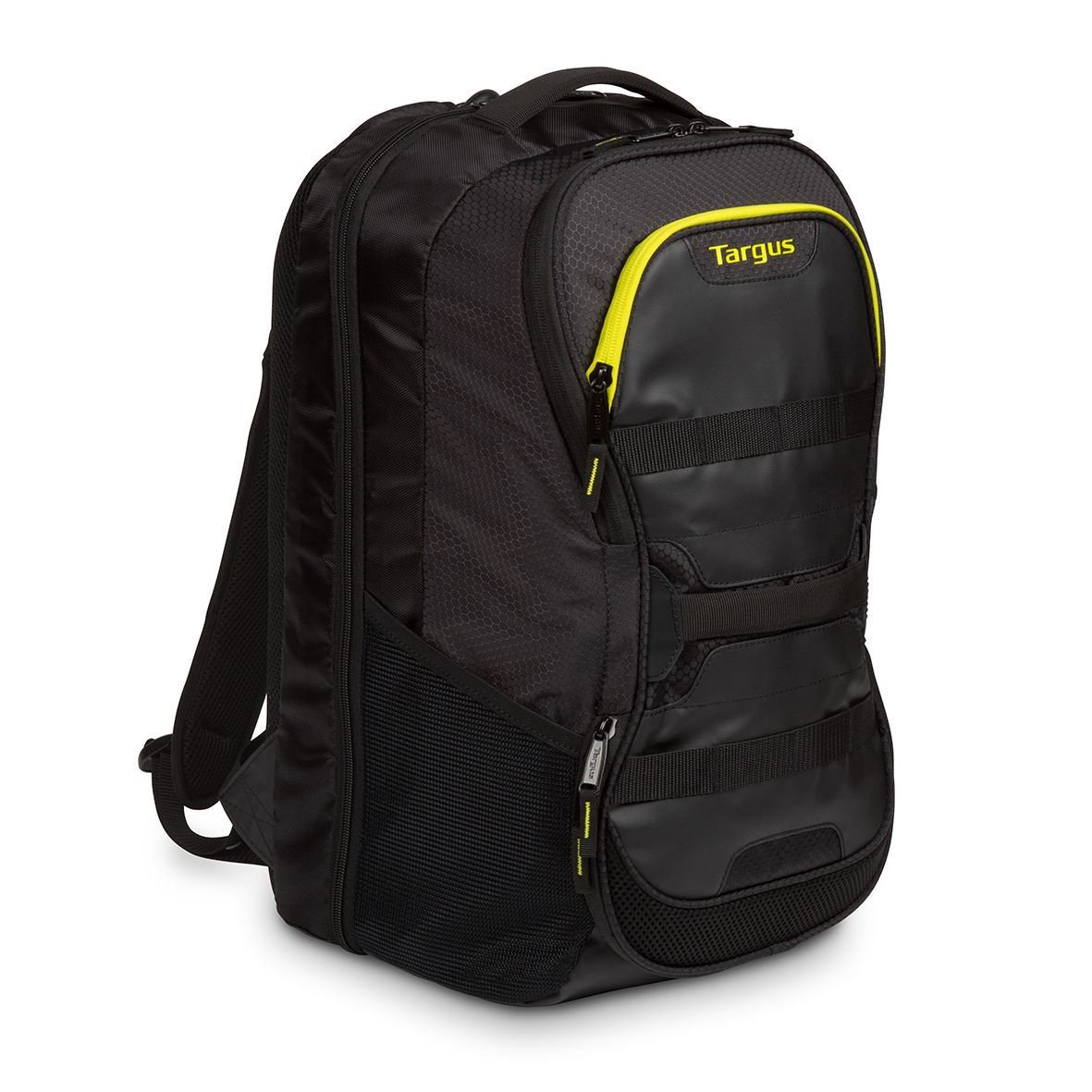 "Targus Work & Play Fitness - Notebook Carrying Backpack - 15.6"" - Black, Yellow TSB944EU - C2000"