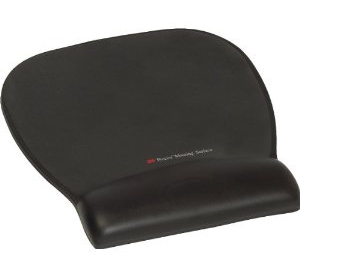 3M Mouse Mat Gel Wrist Rest MW311LE Black Leatherette FT510112343 - eet01