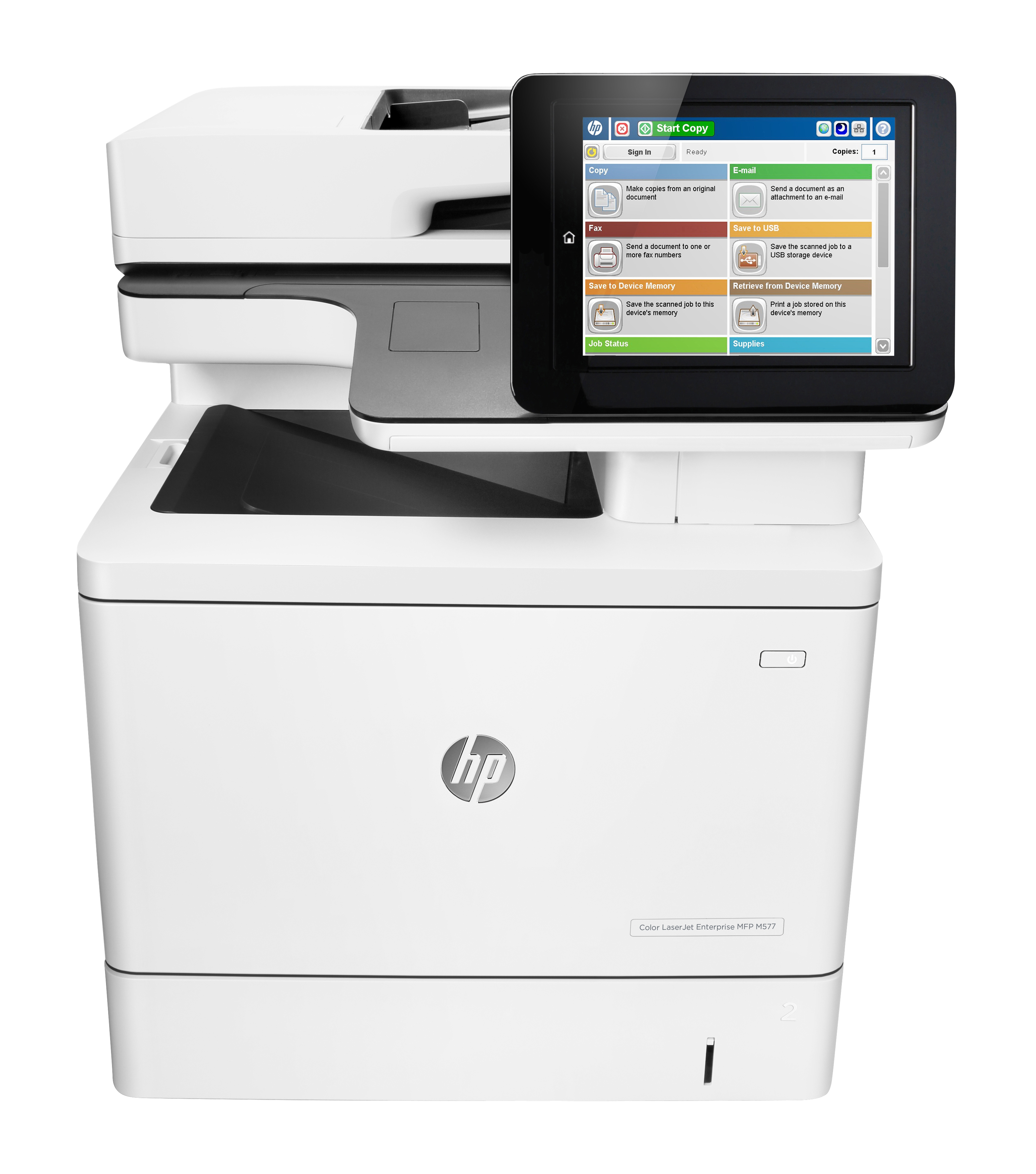 B5L46A HP Colour LaserJet Enterprise MFP M577dn M577 Multifunction A4 Printer - Refurbished with 3 months RTB warranty