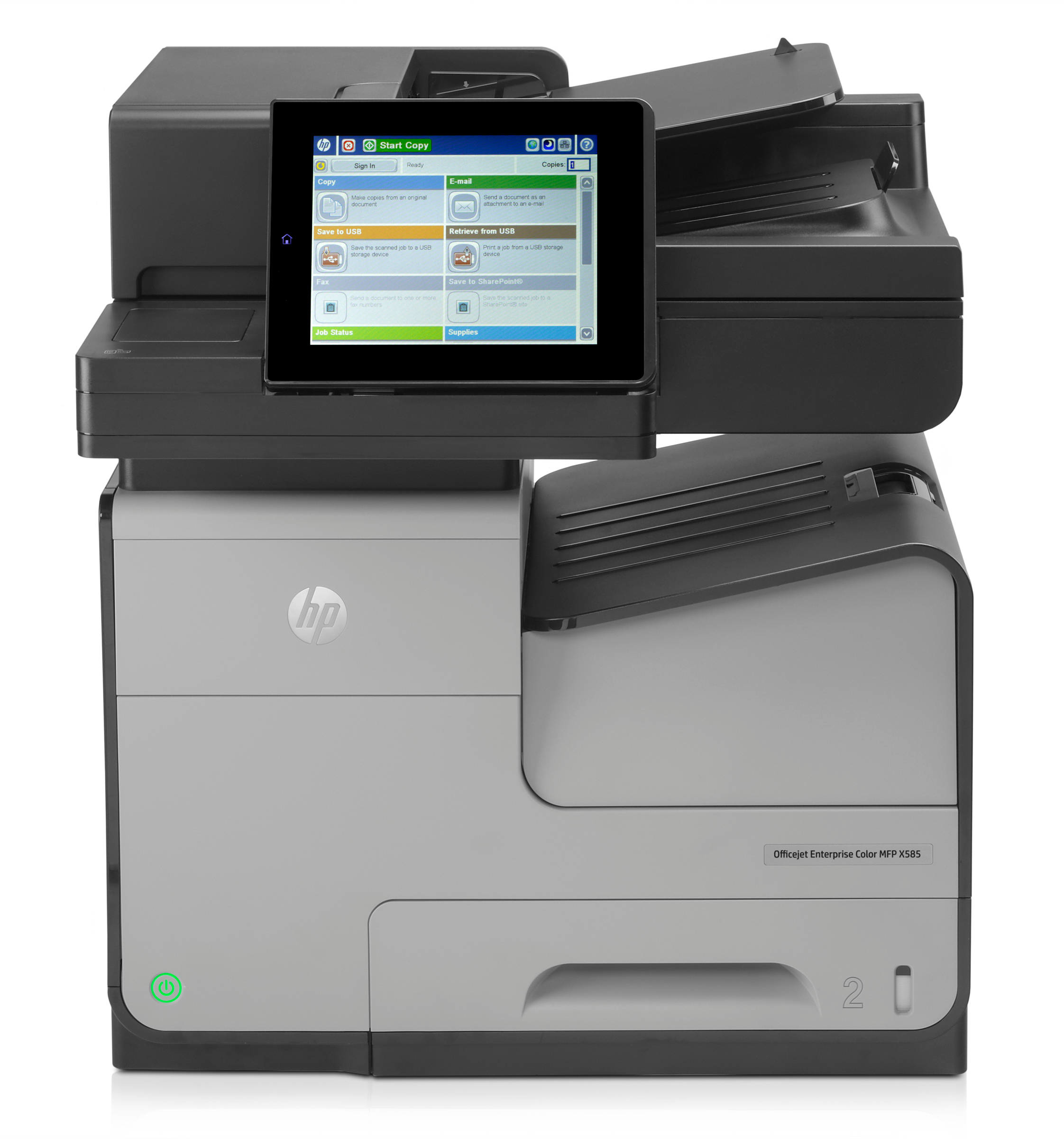 B5L05A HP OfficeJet Enterprise Colour X585F X585 Multifunction InkJet Printer - Refurbished with 3 months RTB warranty