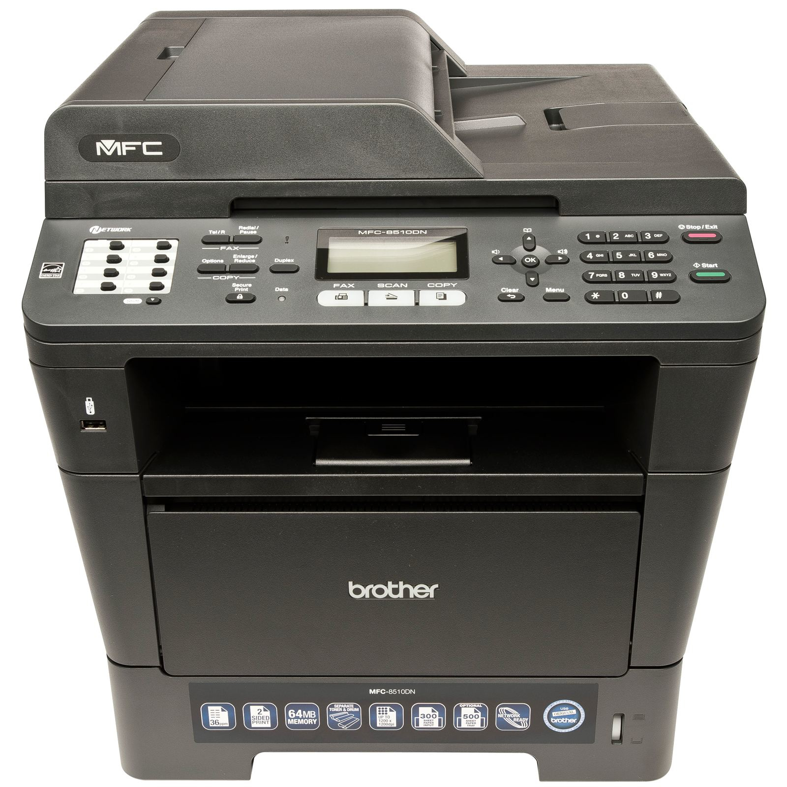 MFC8510DNZU1 Brother MFC-8510DN MFC 8510 A4 Mono Multifunction Laser Printer - Refurbished with 3 months RTB warranty