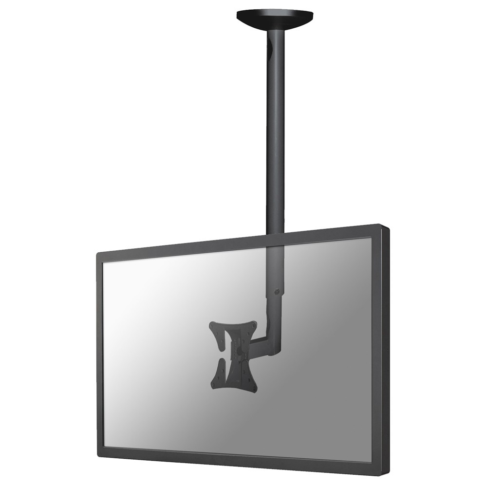 "Newstar TV/Monitor Ceiling Mount For 10""-30"" Screen, Height Adjustable - Black. Tilt And Turn (left And Right) Ceiling Mount Suitable For A Screen Between 10"" And 30"" And Up To 20kg Max. Heig - C2000"