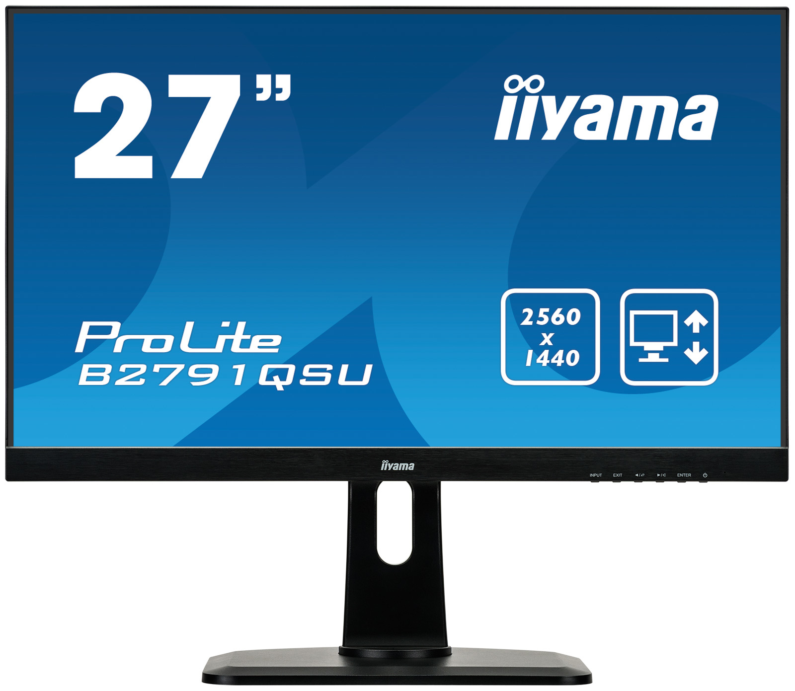 "Iiyama ProLite B2791QSU-B1 - LED Monitor - 27"" (27"" Viewable) - 2560 X 1440 1440p (Quad HD) - TN - 350 Cd/m - 1000:1 - 1 Ms - HDMI, DVI, DisplayPort - Speakers - Black B2791QSU-B1 - C2000"