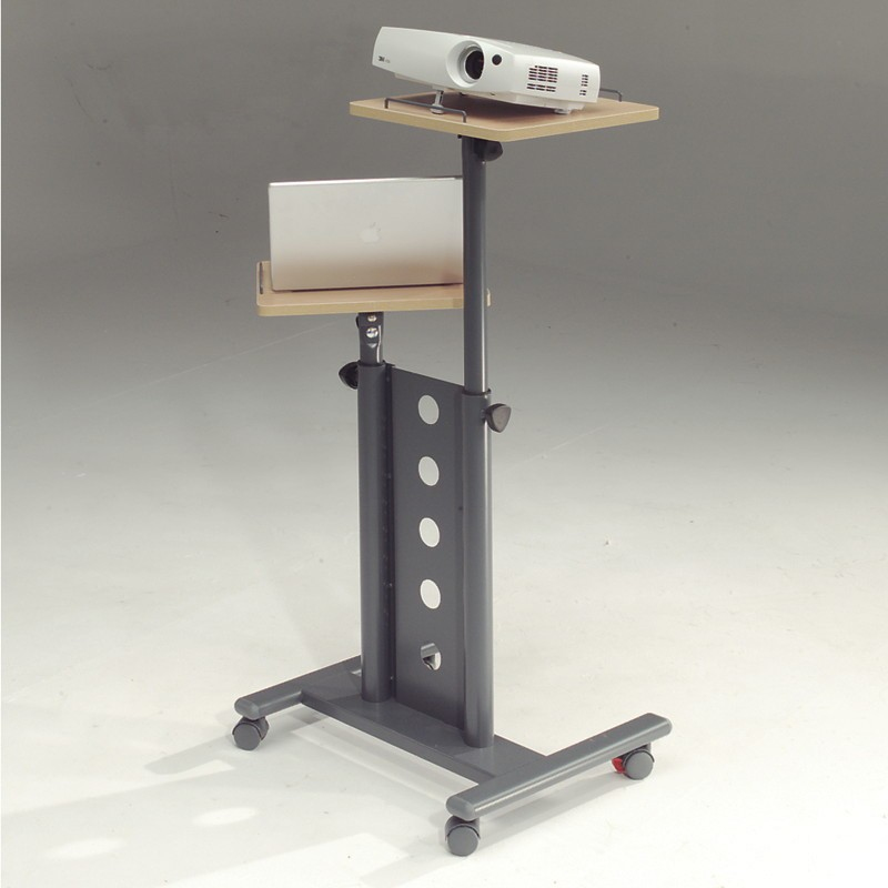 215715, Secure Mobile MM Projector Trolley Standard. Mobile Multi-media Trolley With Two Independently Height Adjustable Platforms That Can Both Rotate And Angle. Robust Steel Trolley Mounted - C2000