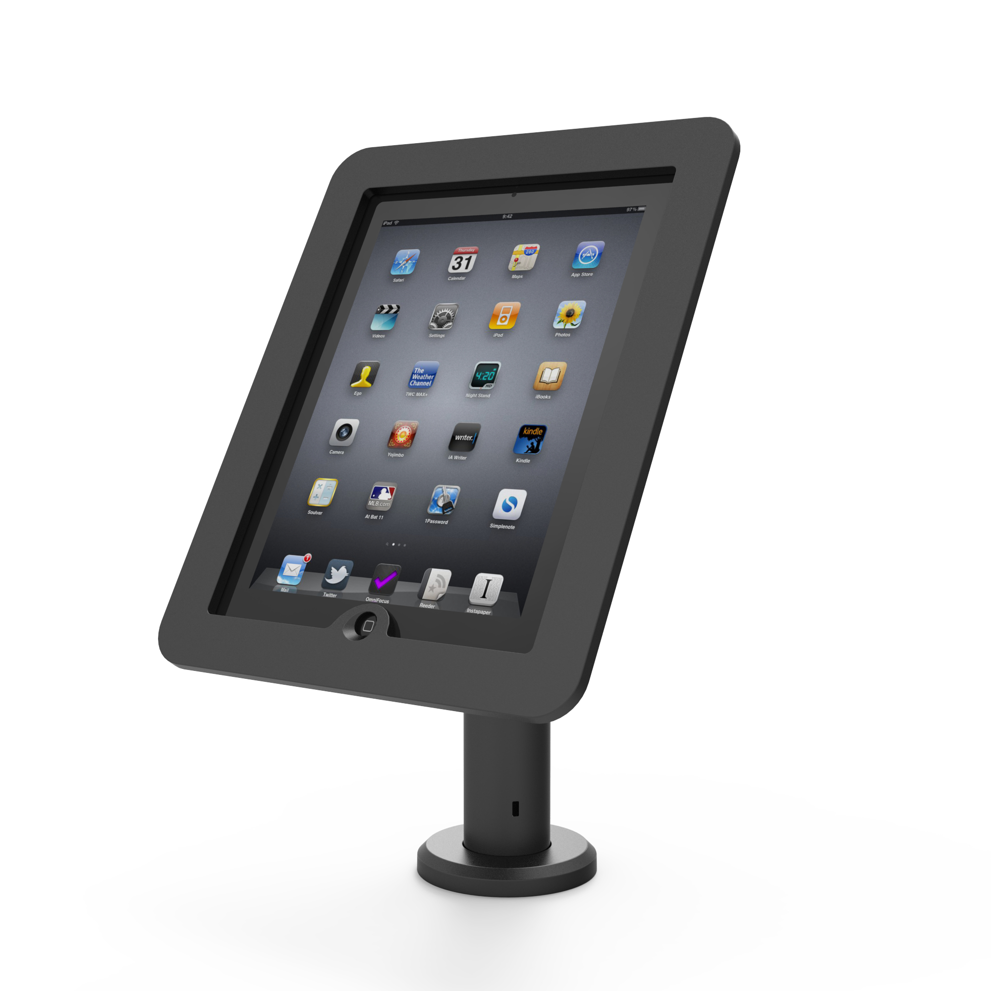 "Compulocks Rise - VESA Counter Top Kiosk 8"" - Black - Stand For Tablet - Mounting Interface: 100 X 100 Mm - Pole Mount TCDP01 - C2000"