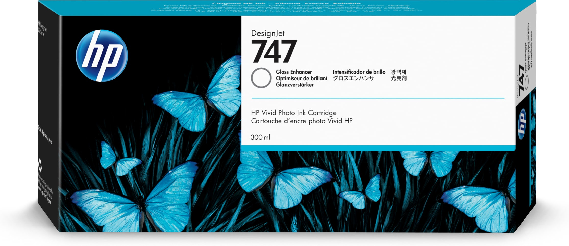 HP No. 747 Ink Cartridge Gloss Enhancer - 300ml P2v87a