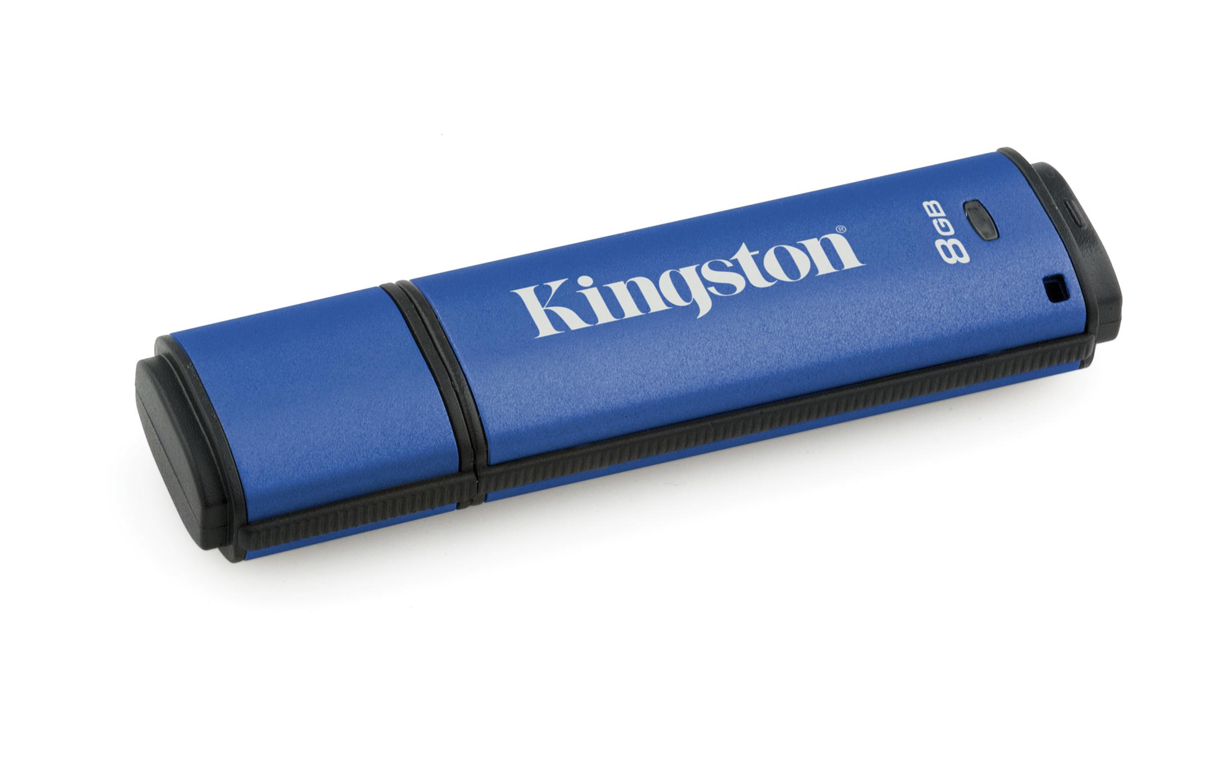 Kingston 8GB DataTraveler USB3.0 256bit AES Encrypted DTVP30/8GB - eet01