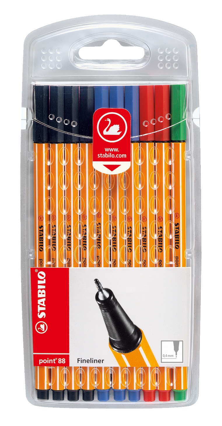 stabilo Stabilo Point 88 Fineliner Office Colours Pk10 87-1468 - AD01