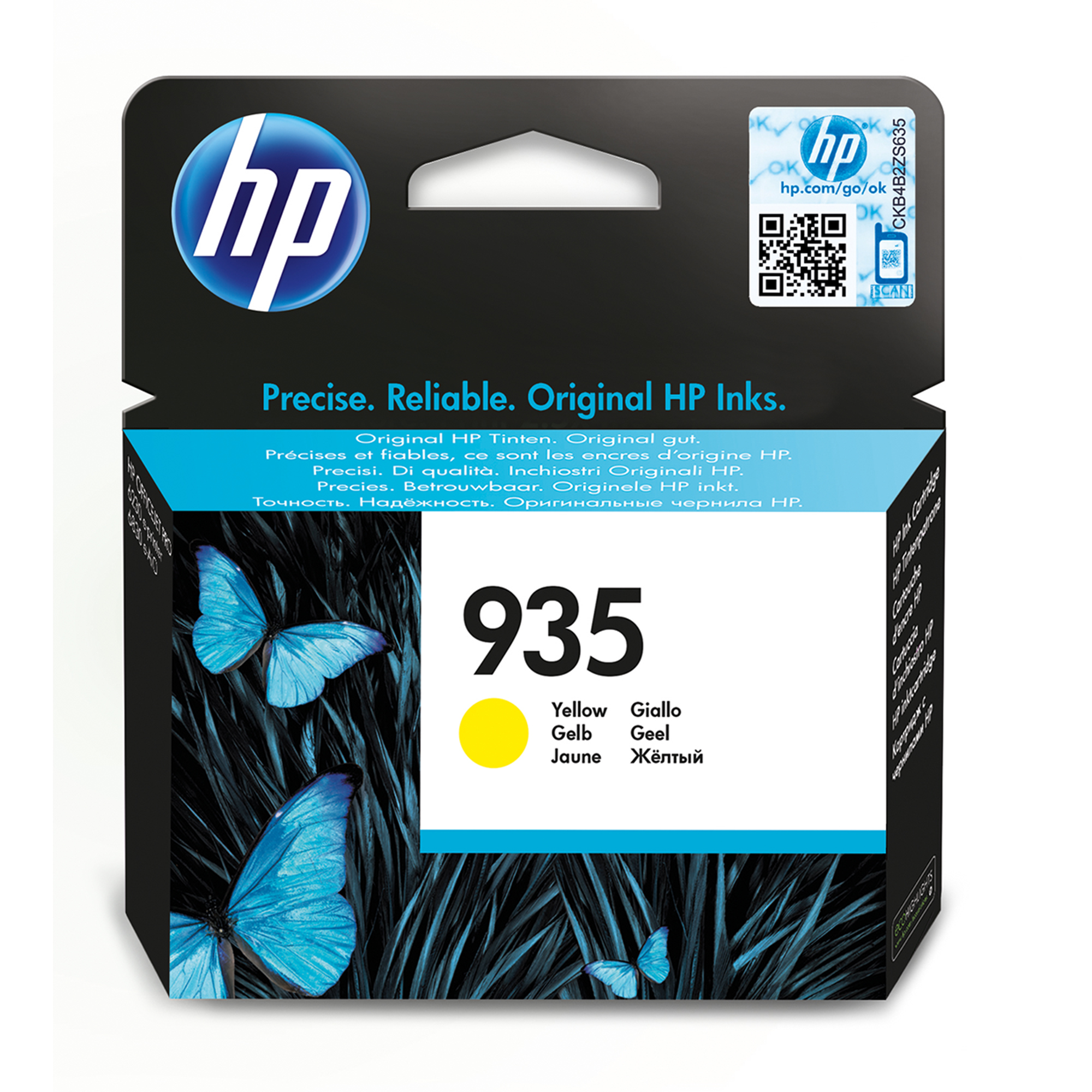 Hp - Inkjet Supply Mvs (1n)      Ink Cartridge No 935 Yellow         De/fr/nl/be/uk/se/it                C2p22ae#bgx
