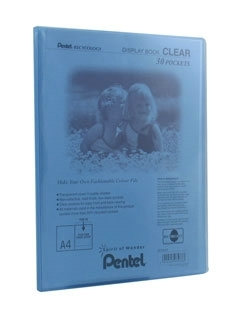 pentel Pentel Recycology A4 Display Book Clear 30 Pockets Blue Pk10 Dcf243c - AD01