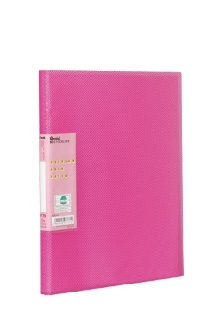 pentel Pentel Recycology Vivid A4 Display Book 30 Pockets Pink Pk10 Dcf343p - AD01