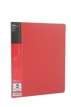 pentel Pentel Recycology A4 Display Book 20 Pockets Red Pk10 Dcf442b - AD01
