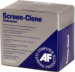 Afscs100       Af Screen-clene 100 Sachets    For Monitor Screens & Filters                                - UF01