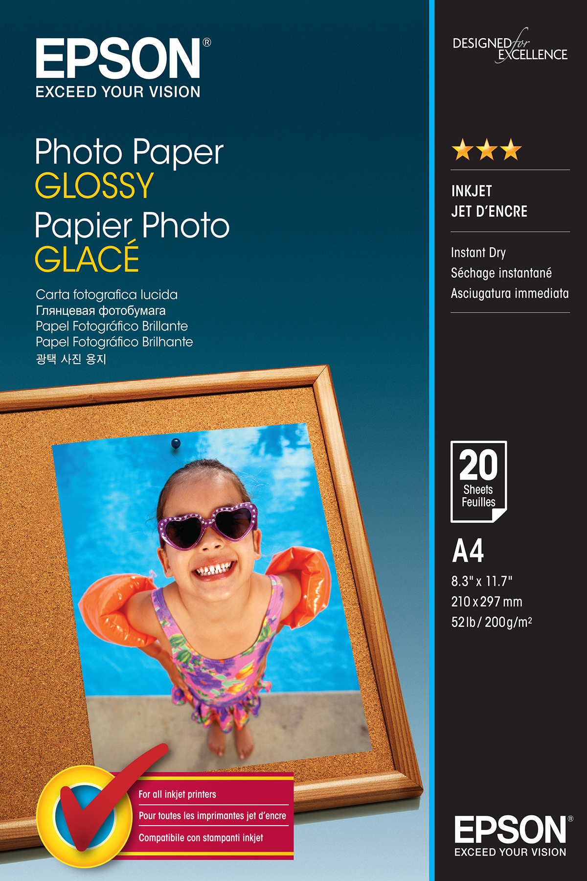 C13s042538 epson Photo Paper Glossy A4 20sheet - AD01