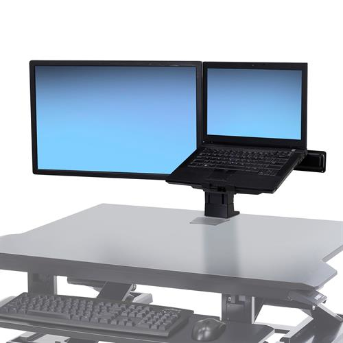 "Ergotron WorkFit LCD & Laptop Kit - Desk Mount For LCD Display - Black - Screen Size: Up To 24"" 97-933-085 - C2000"