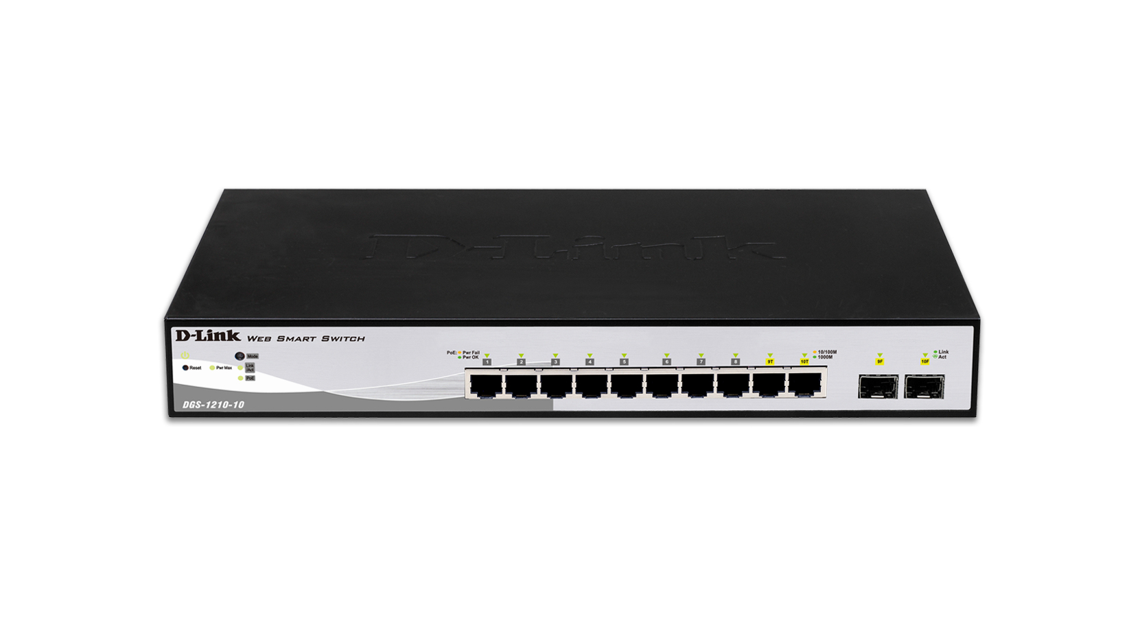 10-Port Gigabit Smart Switch With 2 SFP Ports DGS-1210-10 - C2000
