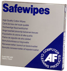 Afswi400       Af Safewipes 400 Per Pack      Lint Free Cotton Squares . Re-usable.                        - UF01