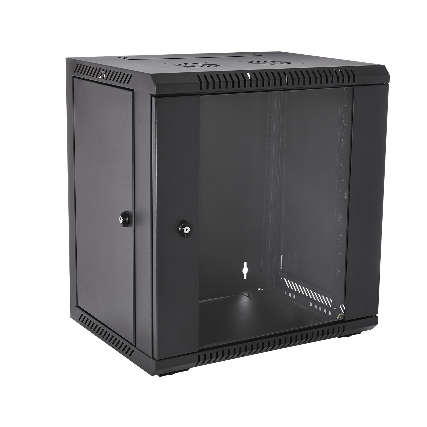 V7 - Racks                       12u Rack Wall Mount Enclosure       Locking Glass Door 450mm            Rmwc12ug450-1e