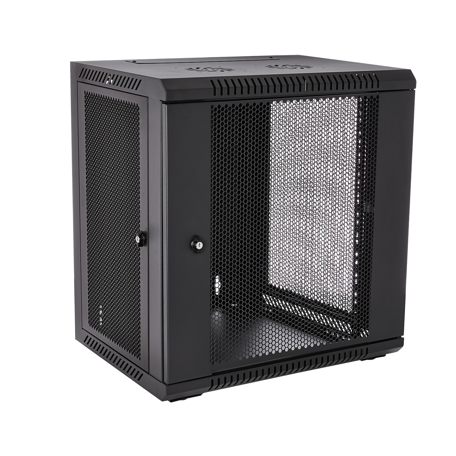 V7 - Racks                       12u Rack Wall Mount Enclosure       Locking Vented Doors 450mm          Rmwc12uv450-1e