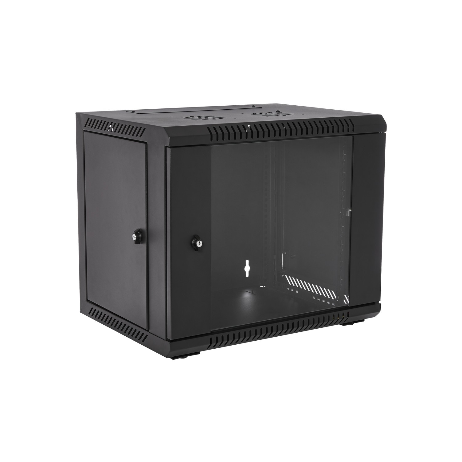 V7 - Racks                       9u Rack Wall Mount Enclosure        Locking Glass Door 450mm            Rmwc9ug450-1e