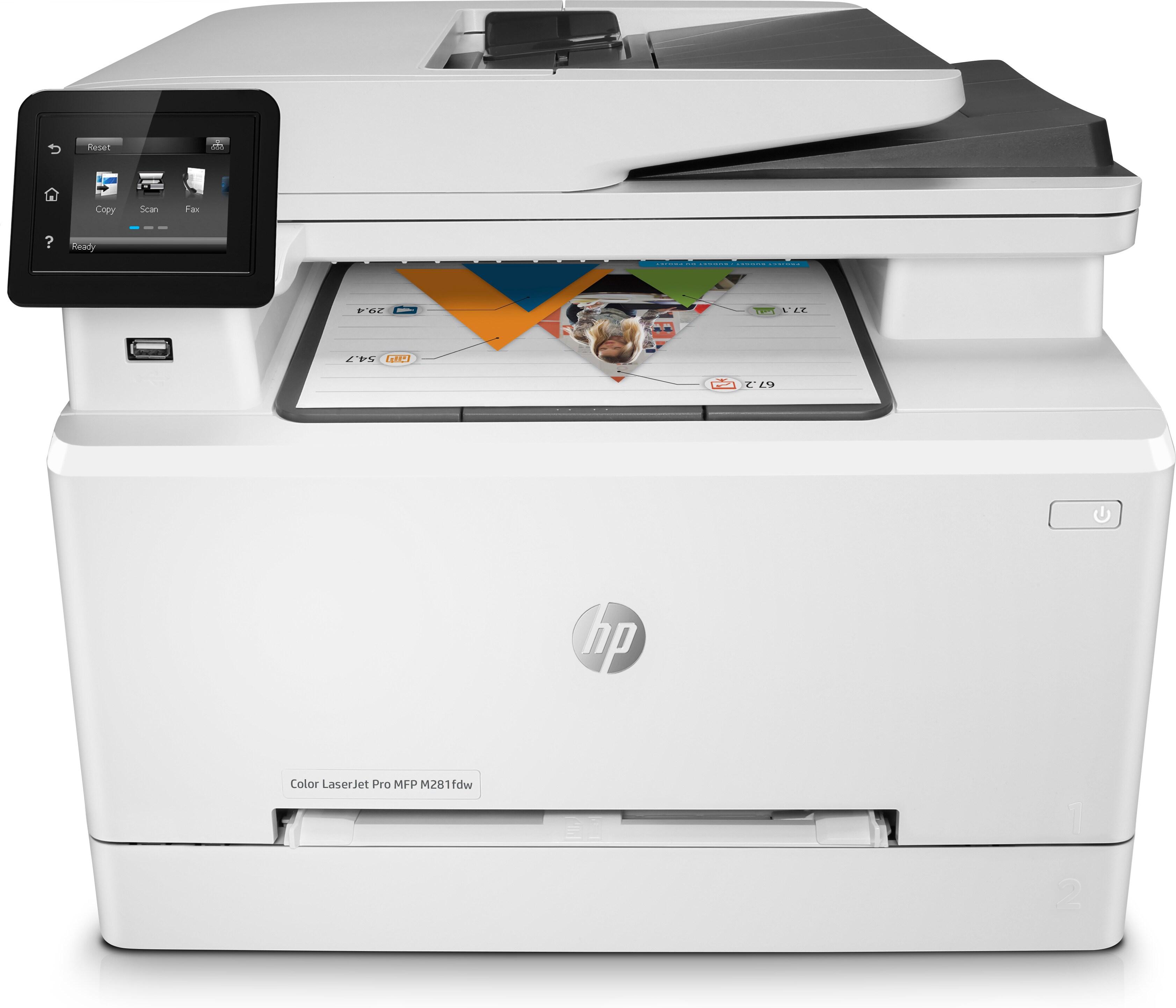 T6B82A HP Color Laserjet Pro MFP M281fdw A4 Colour Multifunction Laser Printer - Refurbished