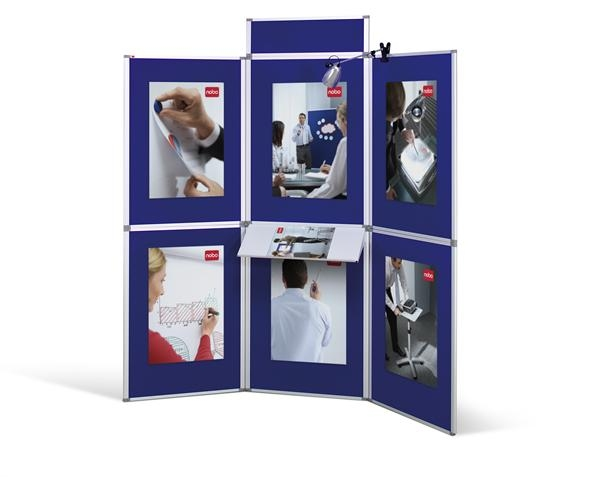 acco Nobo Pro-panel 6 Panel Display System Blue Dd 1901169 - AD01