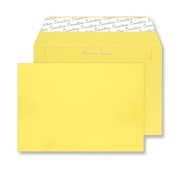45303 Blake Creative Colour Banana Yellow Peel & Seal Wallet 162X229mm 120Gm2 Pack 25 Code 45303 3P- 45303