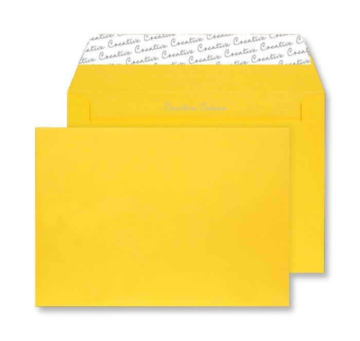 45304 Blake Creative Colour Egg Yellow Peel & Seal Wallet 162X229mm 120Gm2 Pack 25 Code 45304 3P- 45304