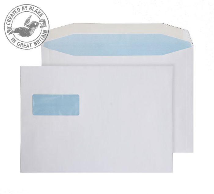 3730W Blake Purely Everyday White Window Gummed Mailer 229X324mm 100Gm2 Pack 250 Code 3730W 3P- 3730W
