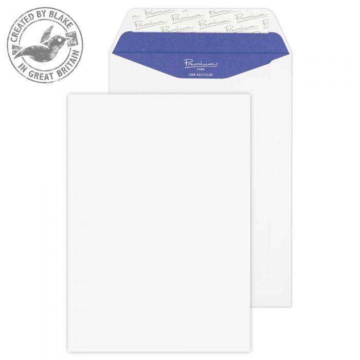 RP83893 Blake Premium Pure Super White Wove Peel & Seal Pocket 229X162mm 120Gm2 Pack 500 Code Rp83893 3P- RP83893