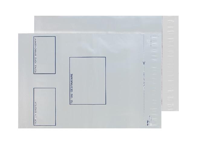 PE64/W Blake Purely Packaging White Peel & Seal Polythene Pocket 330X460mm 50Mu Pack 500 Code Pe64/W 3P- PE64/W