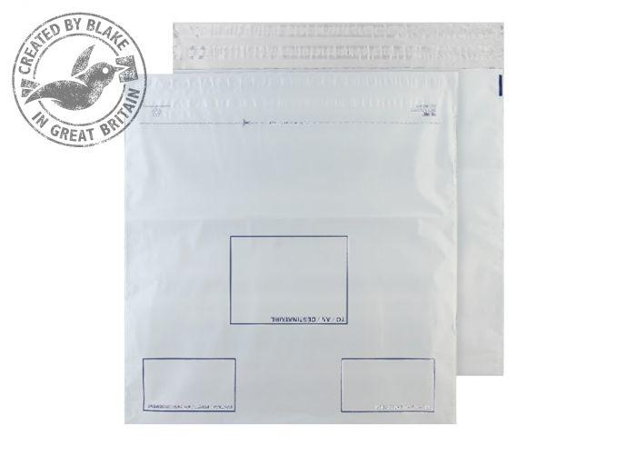 PE84/W Blake Purely Packaging White Peel & Seal Polythene Wallet 460X430mm 50Mu Pack 500 Code Pe84/W 3P- PE84/W