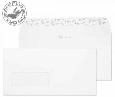 31884 Blake Premium Business Ice White Wove Window Peel & Seal Wallet 110X220mm 120G Pk500 Code 31884 3P- 31884