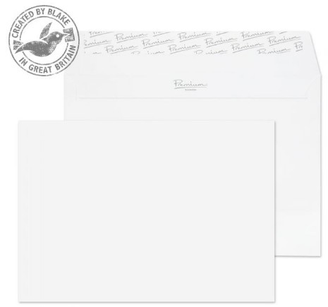 31707 Blake Premium Business Ice White Wove Peel & Seal Wallet 162X229mm 120Gm2 Pack 500 Code 31707 3P- 31707