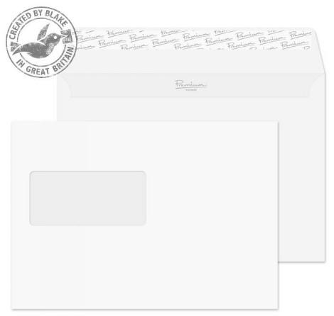 31708 Blake Premium Business Ice White Wove Window Peel & Seal Wallet 162X229mm 120G Pk500 Code 31708 3P- 31708