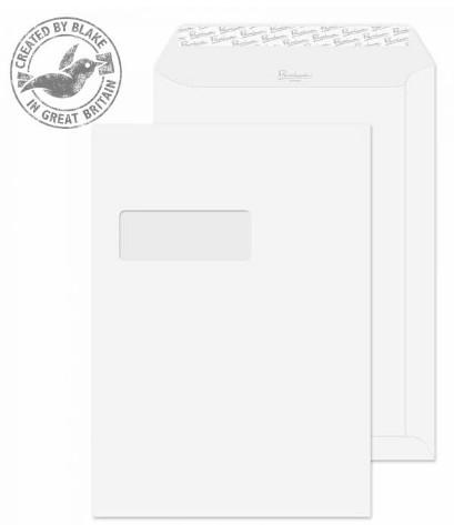 31892 Blake Premium Business Ice White Window Peel & Seal Pocket 324X229mm 120Gm2 Pack 250 Code 31892 3P- 31892