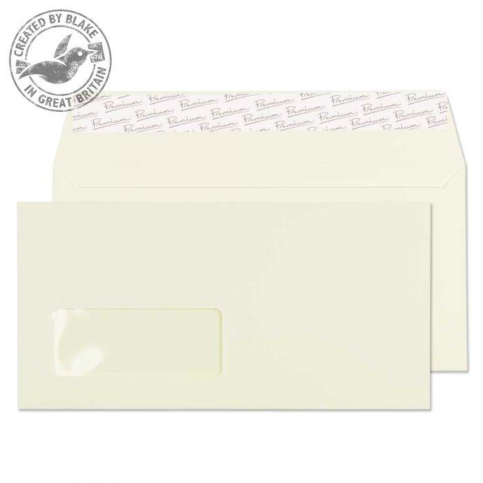 71884 Blake Premium Business Oyster Wove Window Peel & Seal Wallet 110X220mm 120Gm2 Pack 500 Code 71884 3P- 71884