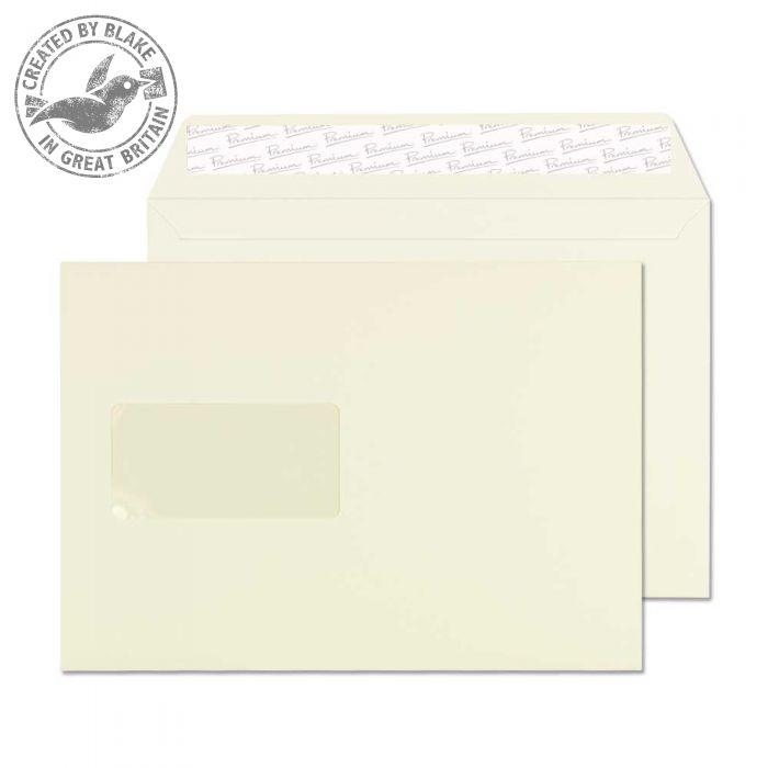 71708 Blake Premium Business Oyster Wove Window Peel & Seal Wallet 162X229mm 120Gm2 Pack 500 Code 71708 3P- 71708
